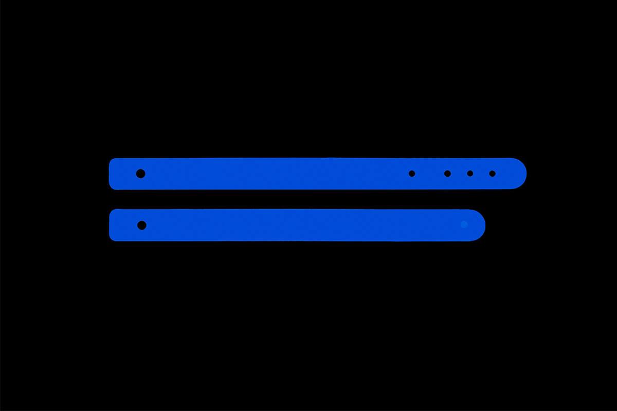Correa para pantalla de protección facial homologada color azul