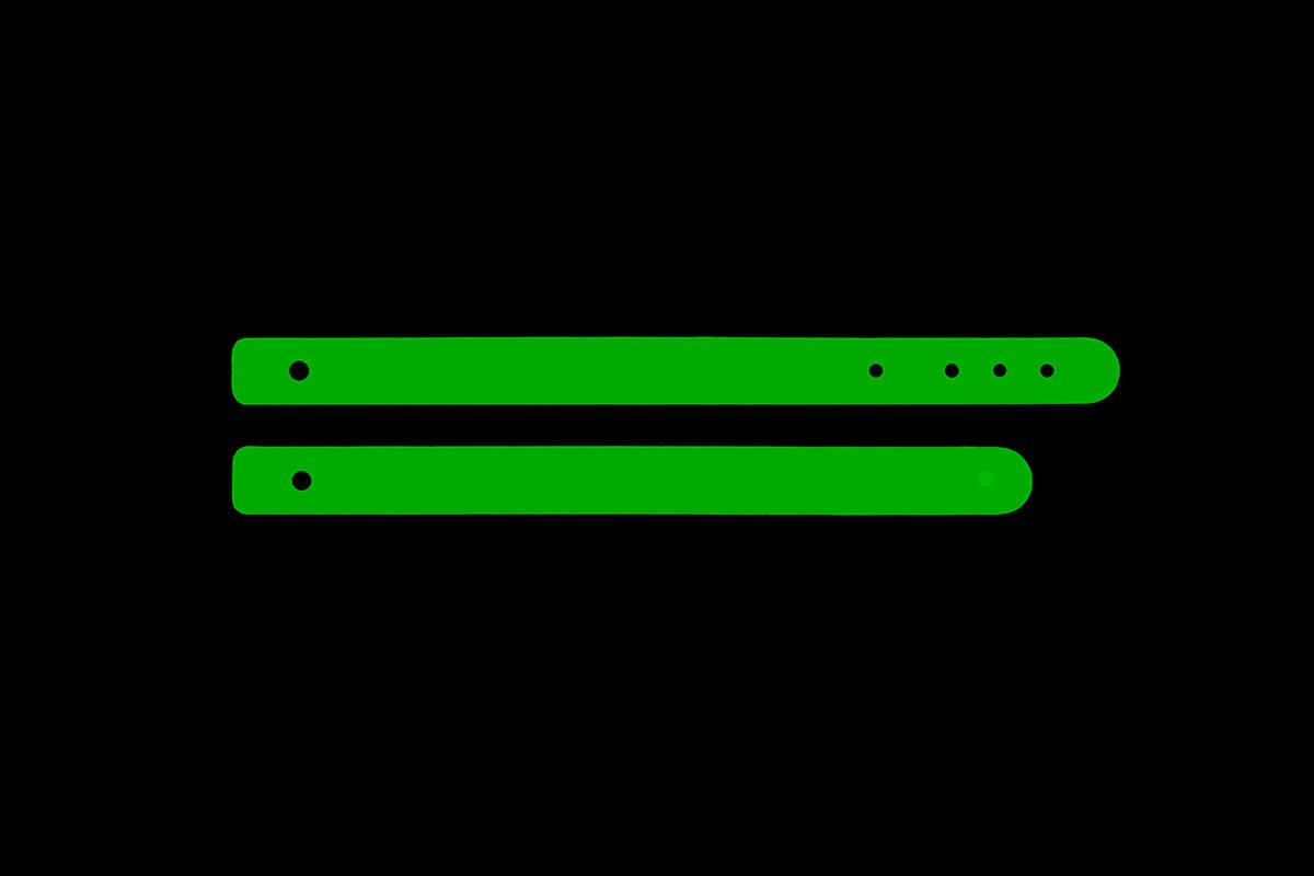 Correa para pantalla de protección facial homologada color verde