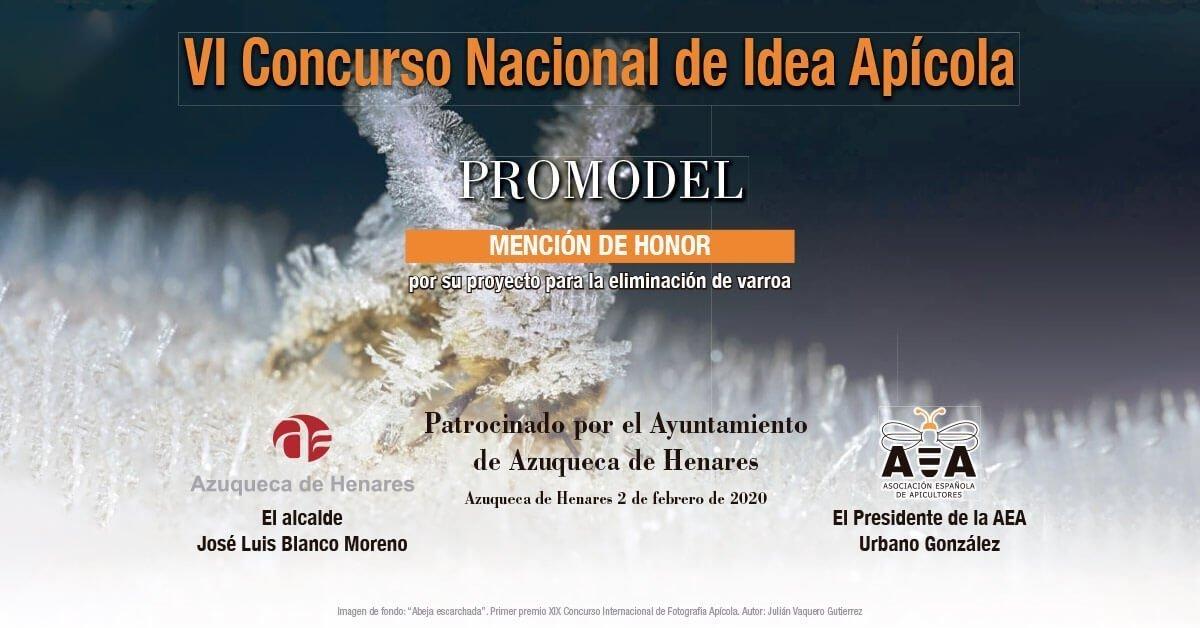 Mención de Honor por el proyecto de eliminación de Varroa